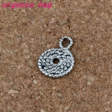 Straw Rope Pendants 200Pcs/lot Hot sell Antique Silver alloy Jewelry DIY 11 x15mm A-186