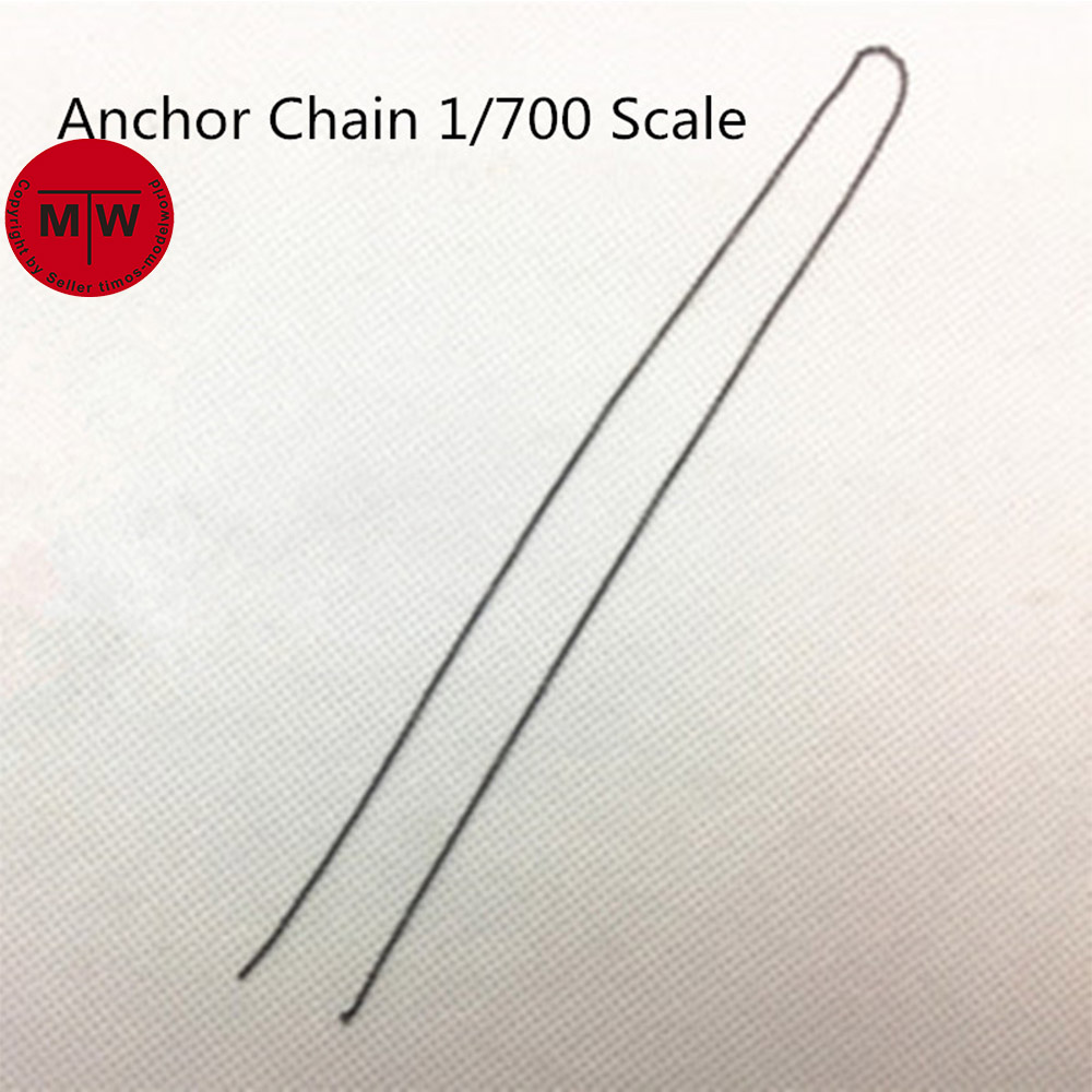 1/700 Scale Model Ship 0.55mm Black Anchor Chain(not Include Anchor)
