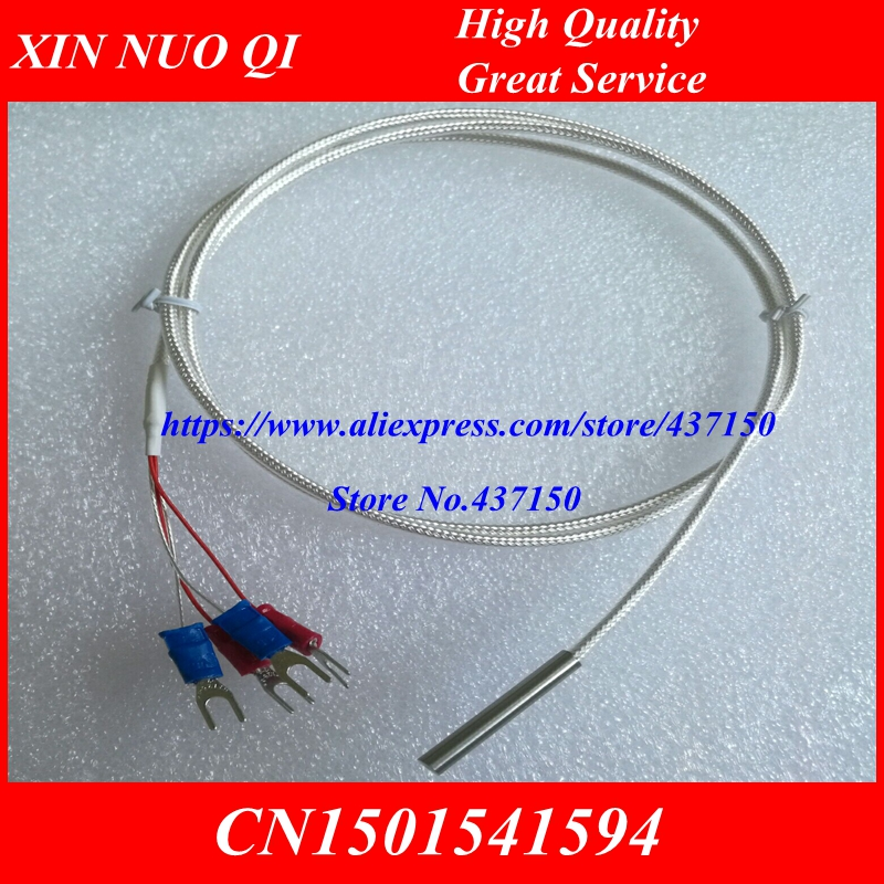 PT100 temperatursensor 1 Mt kabel 4*30 metall sonde 4 draht, PT1000 ...