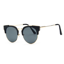 High Quality Cat Eye Women Sunglasses Big Frame Brand Designer Vintage Driving Sun Glasses Cool Big Metal Box Anti-glare glasses