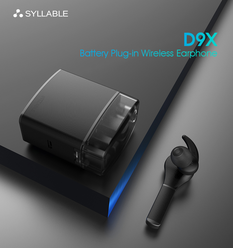 New Syllable TWS Earphone D9X Bluetooth Earphone Lighter Battery Case Replaceable Battery Chip Bluetooth Headset Wireless earbud