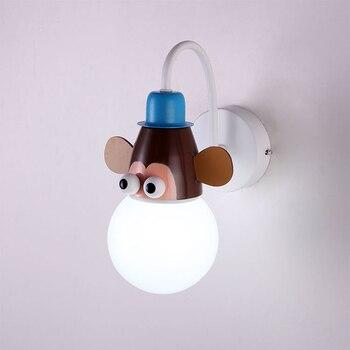 Nordic cartoon pendant droplight, simple lamp Mokey, Girraf, Zebra dimmer Remote led Night Light for Kids,Children Bedroom Decor