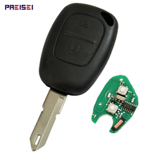 2 Buttons Car Key For Renault Remote Smart Keyless Entry Fob With PCF7946 Chip 433MHZ No Logo 433mhz 2 buttons remote car key with pcf7946 chip and ne73 blade fit for renault new