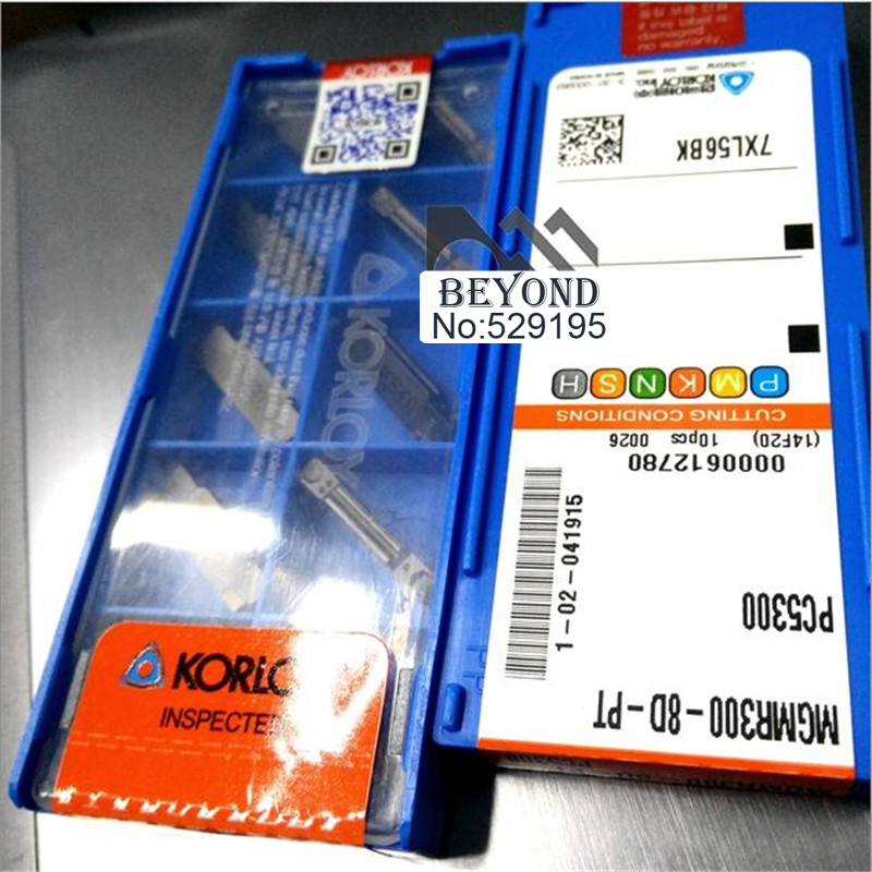 MGMR300 8D PT PC5300 Two headed Cnc Cutting Korloy Carbide Coating Turning Insert For Grooving Holder