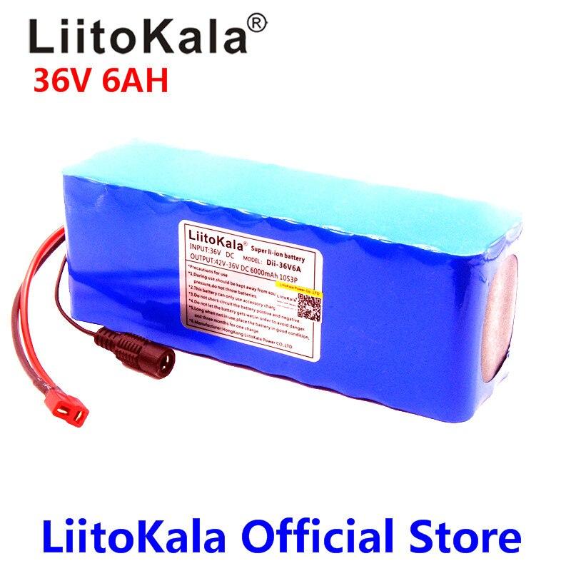 LiitoKala 36 В в 6ah 18650 Вт 500 литиевая батарея 36 В в 8AH Электрический велосипед батарея с ПВХ чехол для электрического велосипеда