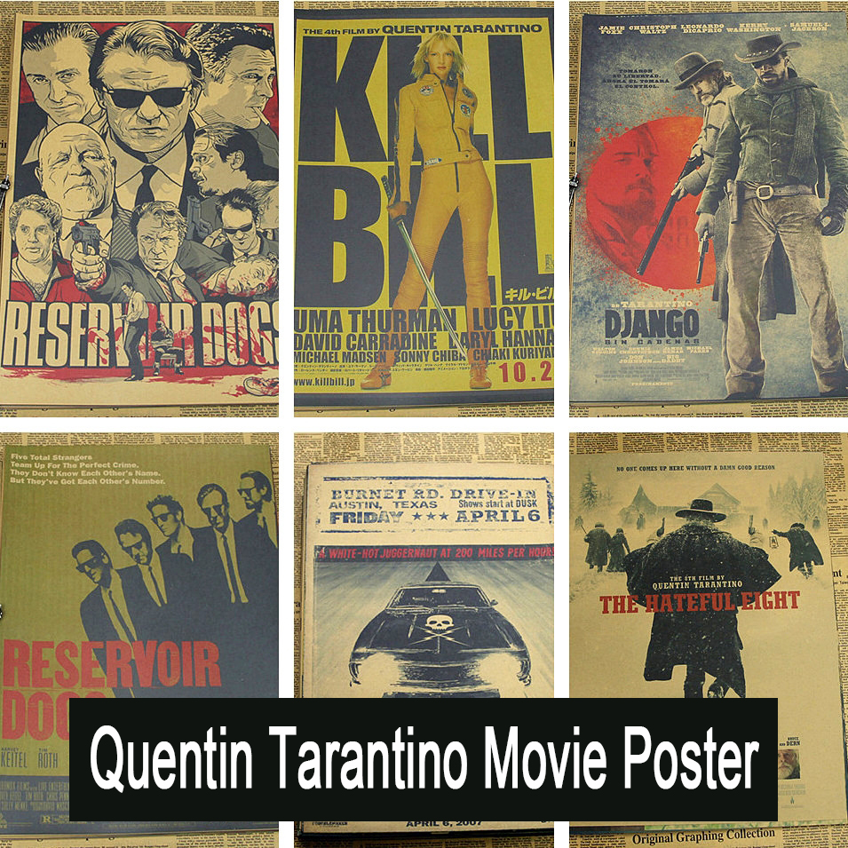 Inglourious Basterds / Django Unchained / Reservoir Dogs / Kill Bill Quentin Tarantino Poster Videos