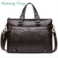 Men Casual Briefcase Business Shoulder Leather Messenger Bags Computer Laptop Handbag Men S Travel Bags