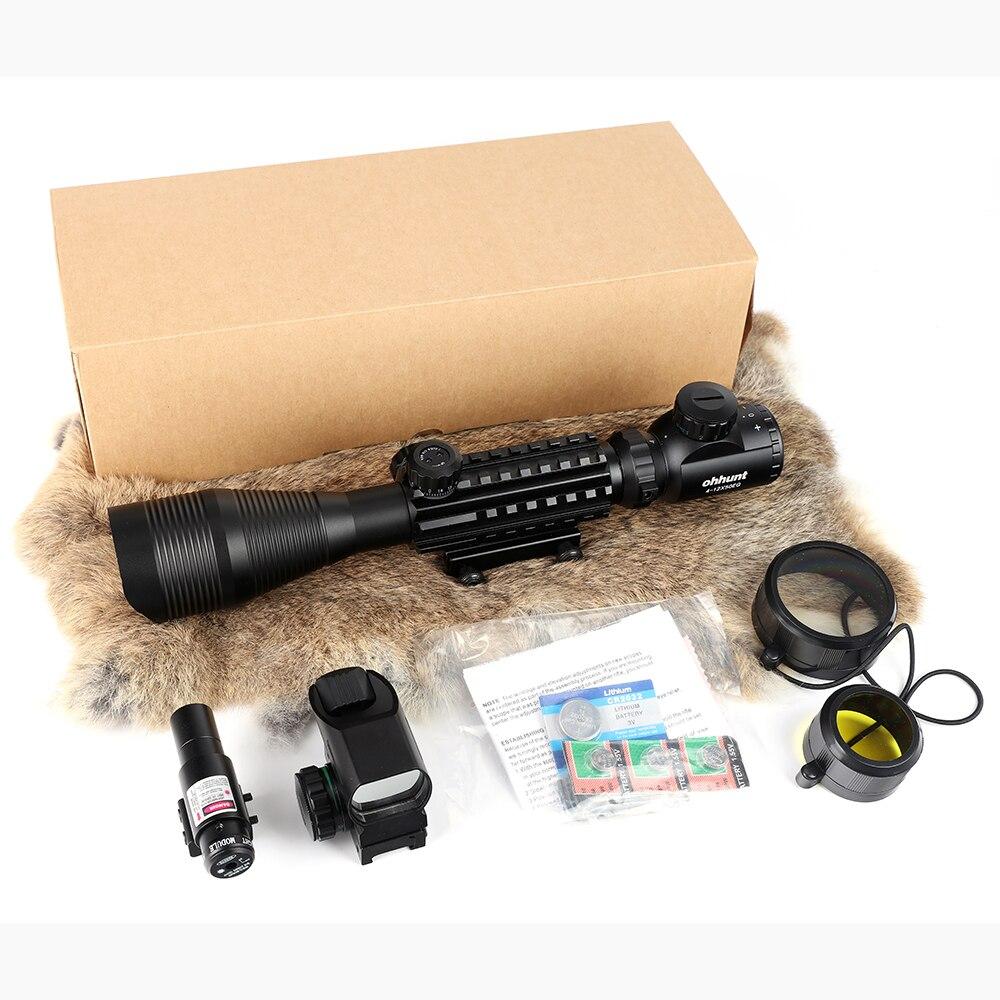 Caça airsofts riflescope 4-12x50eg tático pistola de