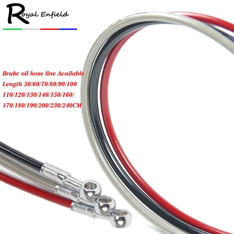 Motorcycle Dirt Bike Braided Steel Hydraulic Reinforce Brake line Clutch Oil Hose Tube 500 To 1500mm Universal Fit Racing MX|Exhaust & Exhaust Systems| |  - title=