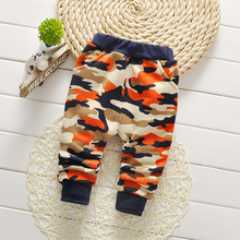 Warm Camouflage Pattern Pants for Baby Boys
