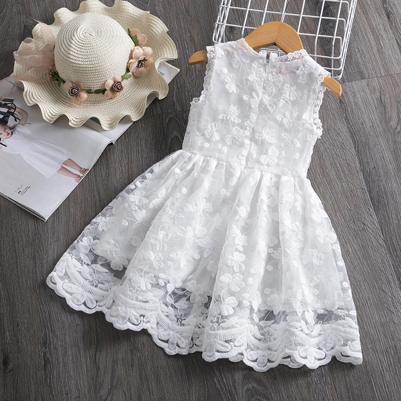 HTB1f5KJaRv0gK0jSZKbq6zK2FXav Girl Dress Kids Dresses For Girls Mesh Casual Lace Embroidery Princess Baby Girl Clothes Summer Sleeveless Dress Kids Clothes