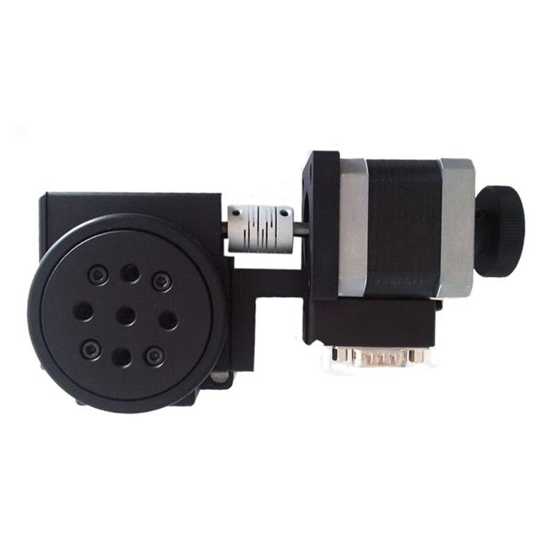 PX110-60 Elettrico Macchina Rotante Ottico Piattaforma Rotante Motorizzato Fase di Rotazione 60 millimetri Cuscinetto Bilancia Y