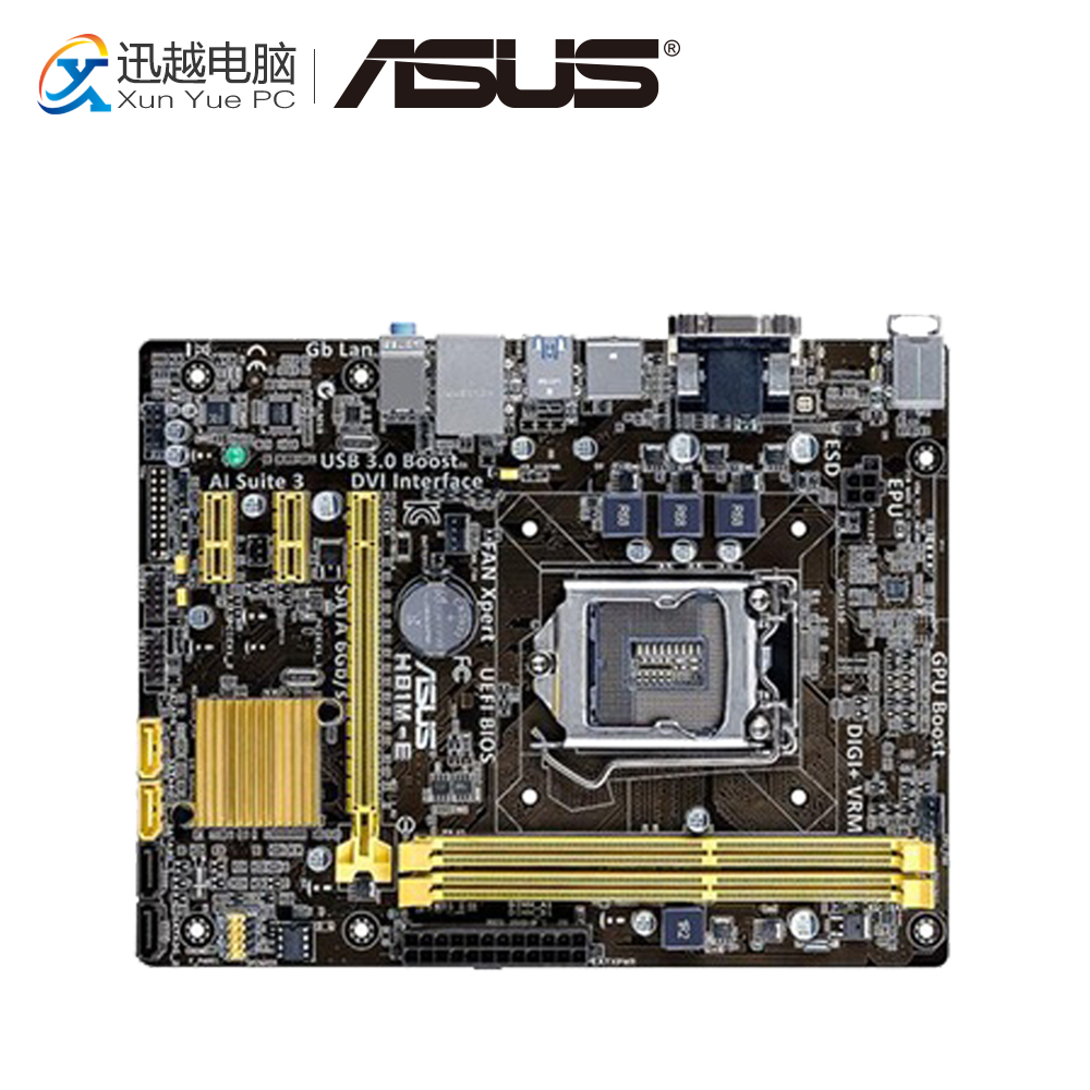 Asus H81M-E Desktop Motherboard H81 Socket LGA 1150 i7 i5 i3 DDR3 16G SATA3 UBS3.0 Micro-ATX