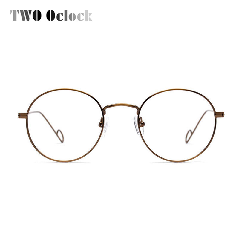 Women Vintage Handmade Wire Metal Round Eyeglasses Frame Men Retro ...