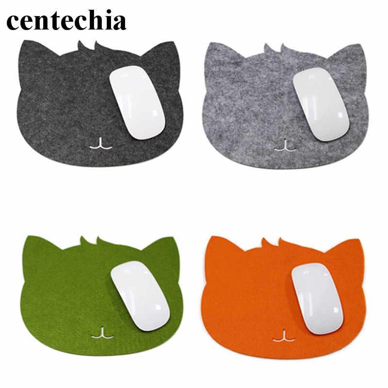 猫型マウスパッドは布マット非スリップコンピュータのノートパソコン用マウスマットゲームmousematパッドデスク