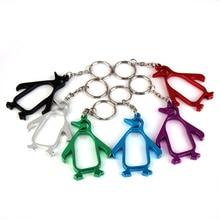 Lot 10 piezas Funny Gadgets pingüino en forma de abridor de cerveza de aleación de aluminio abrebotellas llaveros acampar al aire libre herramientas