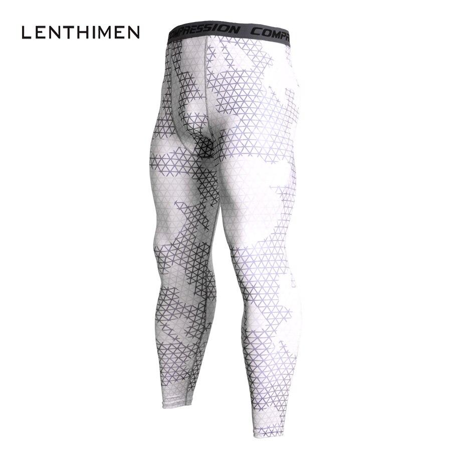 2018 Mens Leggings White Compression Pants Men Elastic Crossfit GYMS Pants MMA Fitness Compression Tights Joggers Men Sweatpants