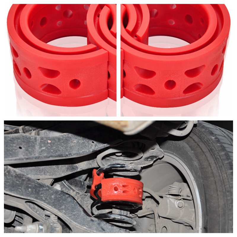 2Pcs Car Auto accessory Shock Absorber Spring Bumper Power Cushion Buffer Rubber Shock Absorption Protective Suspension