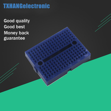 Breadboard blue mini 170 Point Solderless PCB Solderless Prototype breadboard for arduino shield keyes kt0053 breadboard ceramic capacitors resistors more for arduino multicolored