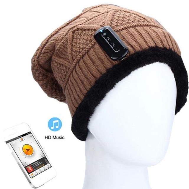 Warm Unisex Fashion Beanie Skullies Hat Wireless Bluetooth Smart Cap Headphone Headset Speaker Mic Outdoor Driving Cycling Nov23