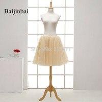 Baijinbai חדש קיץ סגנון מכירת קו חם כדור שמלה עצם קרינולינה תחתוניות לשמלות כלה במלאי טול חמוד תחתוניות