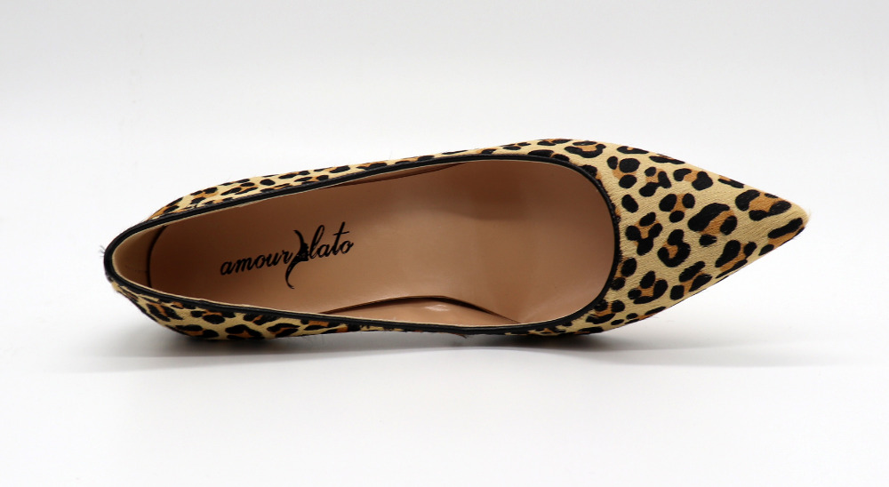 Sexy Partie Motif Soirée De Chaussures 8cm Femmes Reproduction Cuir Bal Bout 10cm Animaux Robe Pompes Pointu Amourplato Léopard En Véritable 1f0Aq