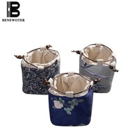 Vintage Style Teaware Storage Bag Thicken Hemp Cotton Teacup Teapot Jar Holder Bag for Outdoor Travel Easy Carry Accessories New|Teaware Sets| |  -