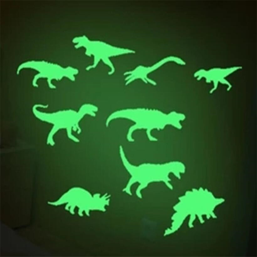 9 Pcs/Set Glow In The Dark Llight Dinosaur Stickers Ceiling Decal Baby Kid Room