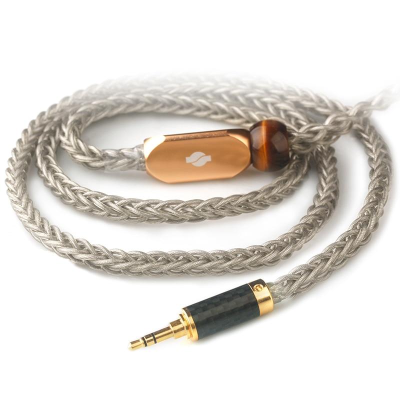 Xiao Fan de oro y plata de paladio II auricular Cable DIY Andrómeda Se846 Qdc T8ie Al8 Ie80 auricular actualización línea envío gratis
