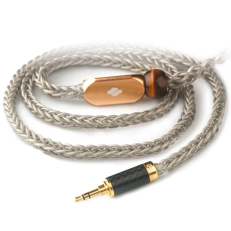 Xiao ventilador oro y plata paladio II Cable de auriculares DIY Andromeda Se846 Qdc T8ie Al8 Ie80 línea de actualización de auriculares envío gratis