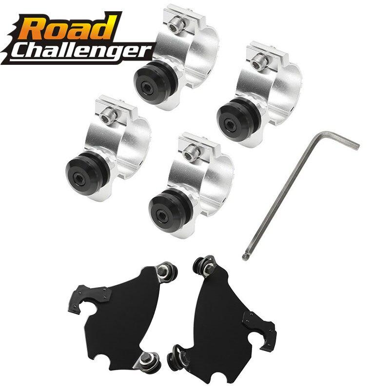 Fork Bracket Gauntlet Headlight Fairing Trigger Lock Mount Kit 41/ 49MM For Harley Dyna Street Sportster Xl 1200 883