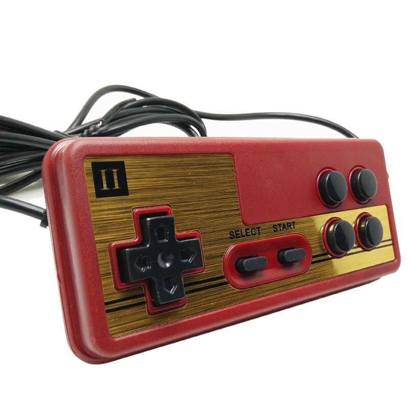 Nostalgie Spécial gamepad, poignée la NES 9 pin contrôleur gamepads Ligne longueur 1.8 mètres 1 paire