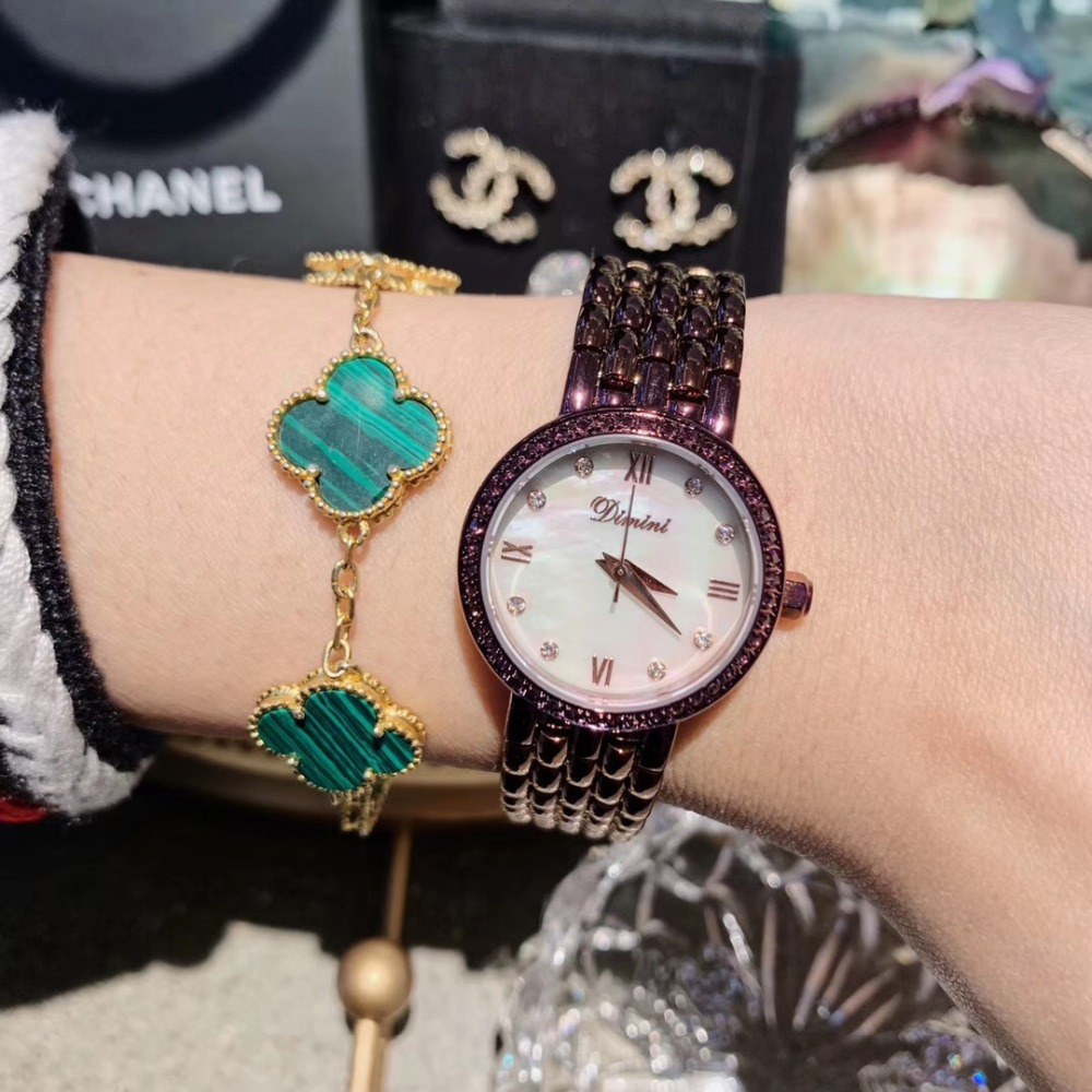 Noble Roxo Mulheres Pulseira Relógios Vestido Elegante