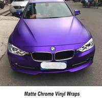 Purple Metallic Matte Chrome Vinyl Wrap Car Wrapping Film For Car Vehicle Styling With Air Rlease