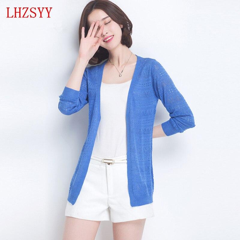 Lhzsyy nueva manga larga chaqueta de sección delgada shir tair-conditioned jerse