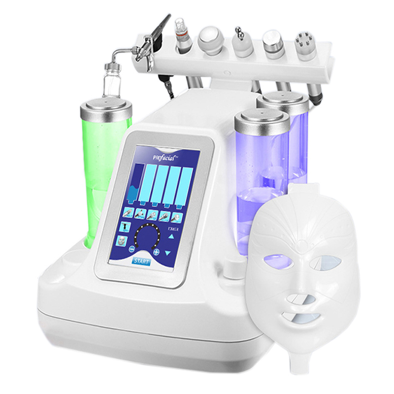 NEW 7 In 1 Vacuum Face Cleaning Hydra Facial Water Oxygen Jet Peel Machine Massage Skin Care BIO Light RF Beauty Device