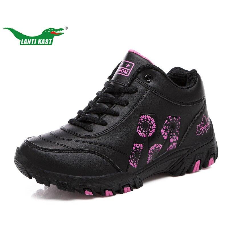 LANTI KAST Winter Women Running Shoes Winter Popular Fur Thermal Sneakers For Girls Comfortable Non Slip