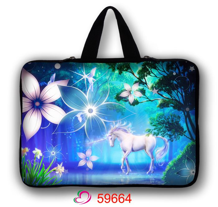 Hot Unicorn Notebook Computer Laptop Sleeve Waterproof Bag Case Handbag For Ipad Tablet PC 7 10 11 12 13 14 15 15.6 17 Inch