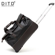 DITD Men Waterproof Luggage Shopping Travel Bag handbag PU leather Rolling Suitcase Trolley Luggage Women&Men Travel Bags 18810 2022242628inch pu leather trip travel maletas de viaje con ruedas envio gratis valiz koffer suitcase rolling luggage