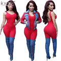 2017 Women Bodysuit Rompers Womens Jumpsuit Sexy Backless Full Length Pure Color Bodycon Jumpsuits American Overalls