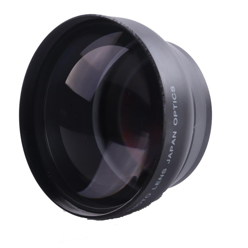 Téléobjectif supplémentaire 58mm 2.2X pour objectif Canon 77D/350D/400D/450D/500D/1000D/550D/600D/1100D 18-55 MM