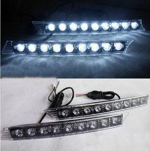 1 пара 9 из светодиодов дневного вождения DRL Противотуманные фары светодиодные фонари