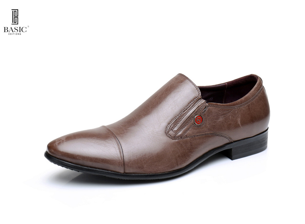 BASIC EDITIONS Men's Slip On Comfort Leather Oxford Loafer Shoes - 1307-02-B806 machiavelli prince norton critical editions