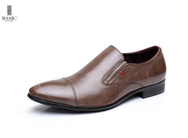 Basic Anywear Men's Slip On Comfort Leather Oxford Loafer Shoes - 1307-02-B806