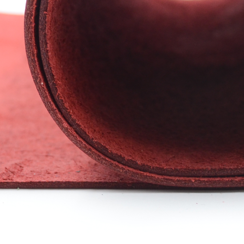 natural skin cow leather crazy horse leather red color genuine leather for needlework for belt good quality many size image