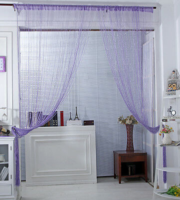 Image 3 - Fashion String Window Door Curtain Backdrop Blind Panel Tassels Valance Room Decor Living-in Curtains from Home & Garden