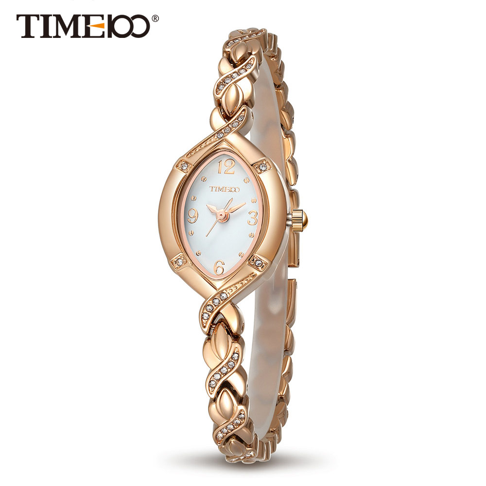 TIME100 Women Watches Quartz Jewlry Gold Cristal Dial Rhinestone Casual Alloy Strap Women Dress Watch relogio femininoTIME100 Women Watches Quartz Jewlry Gold Cristal Dial Rhinestone Casual Alloy Strap Women Dress Watch relogio feminino