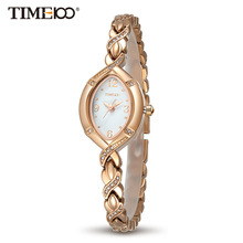 Купить с кэшбэком Time100 Fashion Design Luxury Ladies Square Jewelry Oval Alloy Strap Quartz Dress Rhinestone Bracelet Women Watches#W50170L.02A