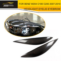 Car Styling Carbon Fiber Headlight Eyelid Eyebrow for Mecedes Benz W204 C180 C200 2007 2010