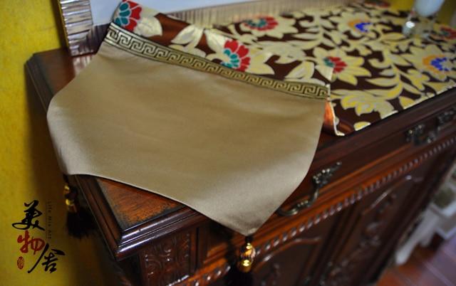 Qalın süfrəli Avropa Saten Qaçış Redbud Çiçək Toy Masası - Ev tekstil - Fotoqrafiya 3